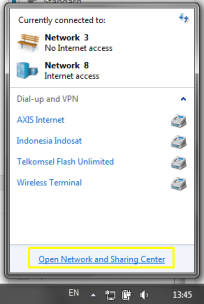 Connection Icon at Taskbar