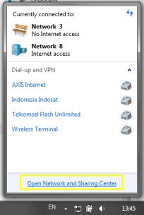 Connection Icon at Taskbar