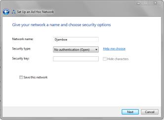 Setup Adhoc Network 2
