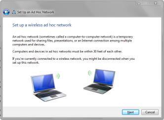 Setup Adhoc Network
